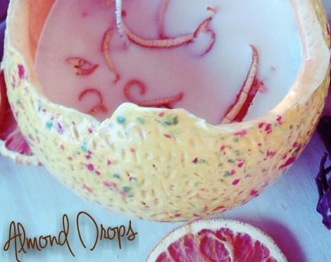 candela in cera di soya agli oli essenziali naturali di arancia dolce e lavanda